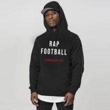 Mikina GangstaGroup Rap & Football Hoodie Black - M
