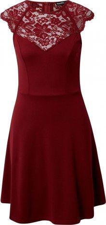 Tally Weijl Koktejlové šaty tmavě červená