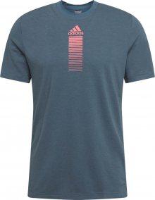 ADIDAS PERFORMANCE Funkční tričko modrá / pink