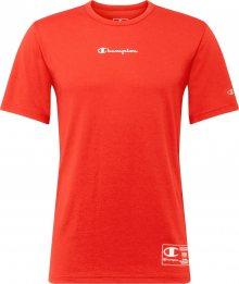Champion Authentic Athletic Apparel Funkční tričko červená / bílá
