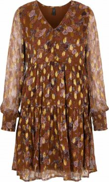 Y.A.S Košilové šaty hnědá / mix barev