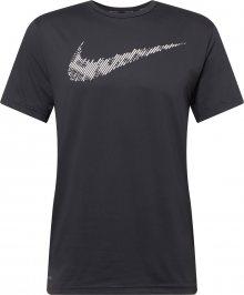 NIKE Funkční tričko bílá / černá