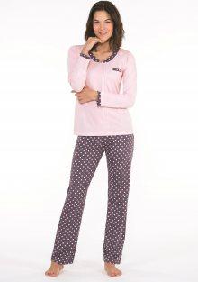 Dámské pyžamo CTM DAHLIA.PY XL Starorůžová1