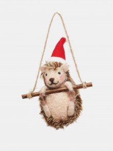 Ozdoba na stromeček ve tvaru ježka Sass & Belle