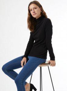 Černé tričko s rolákem Dorothy Perkins - XS