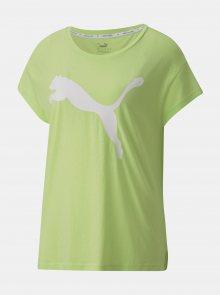 Zelené dámské tričko s potiskem Puma - XXS