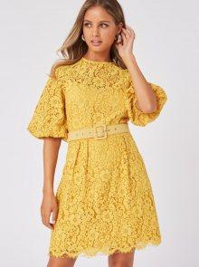 Žluté krajkové šaty Little Mistress - XS