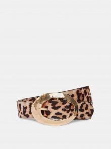 Hnědý pásek s leopardím vzorem Dorothy Perkins - 75-80