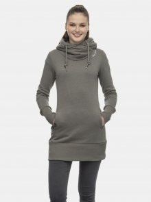 Khaki dámská dlouhá mikina s kapucí Ragwear - XS