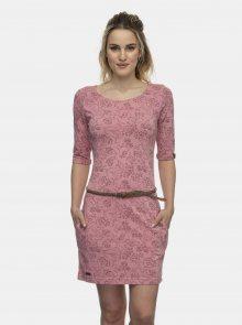 Růžové květované šaty Ragwear - XS