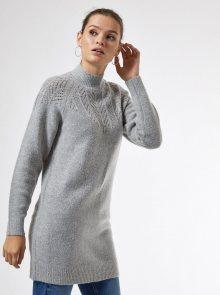 Šedé svetrové šaty Dorothy Perkins - XS