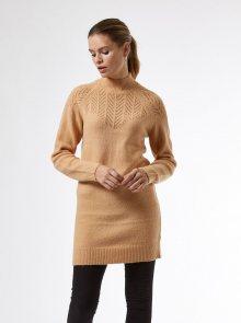 Hnědé dámské svetrové šaty Dorothy Perkins - XS
