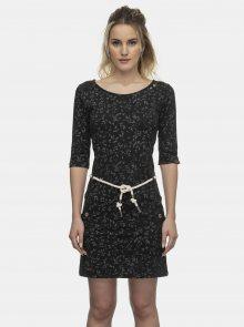 Černé květované šaty Ragwear - XS