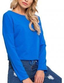 Dámské modré tričko na zavázání v pase