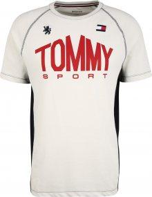 Tommy Sport Funkční tričko \'ICONIC\' červená / bílá