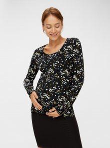 Černé vzorované těhotenské tričko Mama.licious