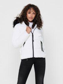 Bílá zimní prošívaná bunda ONLY