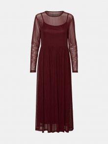 Vínové šaty Noisy May Ember