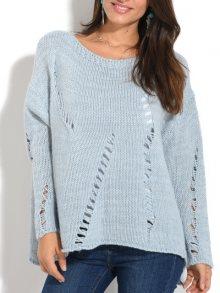 Pearly Blue Dámský svetr 6438 - ALYSSA CIEL\n\n