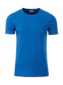 Pánské tričko Organic JN - Kobaltově modrá S