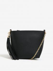 Černá crossbody kabelka s třásní Miss Selfridge