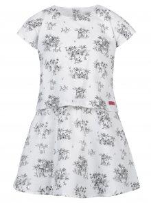 Bílé vzorované holčičí šaty s krátkým rukávem Bóboli