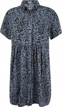 Missguided (Tall) Košilové šaty \'DALMATIAN\' černá / chladná modrá