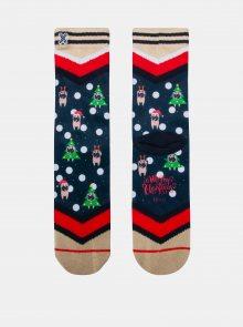 Modro-béžové dámské ponožky XPOOOS