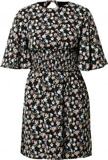 Fashion Union Šaty \'Odine\' černá / pink / modrá