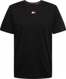 Tommy Sport Funkční tričko černá / modrá / bílá / červená