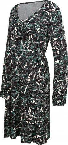 Noppies Šaty černá / zelená / bílá