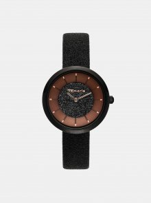 Dámské hodinky s černým páskem Tamaris