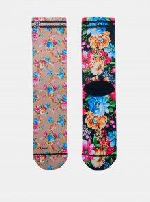Béžovo-růžové dámské ponožky XPOOOS