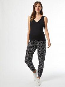 Černé vzorované těhotenské kalhoty Dorothy Perkins Maternity