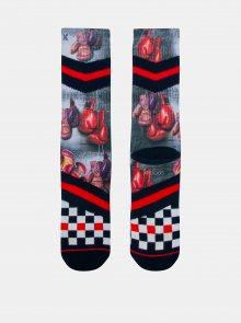 Černo-červené pánské ponožky XPOOOS