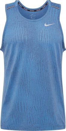 NIKE Funkční tričko \'Miler\' chladná modrá / bílá / kouřově modrá