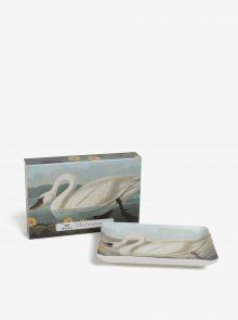 Krémová porcelánová miska s labutí Magpie Swan