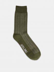 Khaki ponožky Jack & Jones