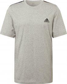 ADIDAS PERFORMANCE Funkční tričko šedý melír