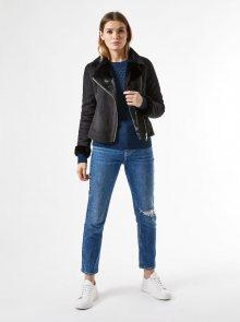 Černá bunda v semišové úpravě Dorothy Perkins - XS
