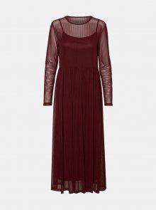 Vínové šaty Noisy May Ember - XS