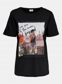 Černé tričko s potiskem Jacqueline de Yong - XS