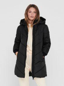 Černý zimní prošívaný kabát Jacqueline de Yong - XS