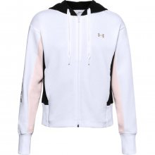 Mikina Under Armour UA Rival Flce EMB FZ Hoodie-WHT - M