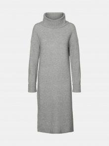 Šedé svetrové šaty VERO MODA Gaiva - XS