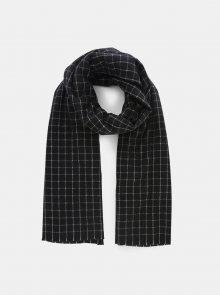 Černý kostkovaný šátek Pieces Salli