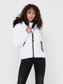 Bílá zimní prošívaná bunda ONLY - XS
