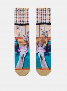 Béžové dámské ponožky XPOOOS - ONE SIZE