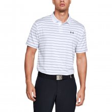 Tričko Under Armour Performance Polo 2.0 Divot Stripe-WHT - XXL