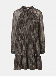 Černé vzorované šaty Noisy May Mutzie - XS